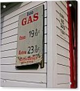 Signs On A Historic Gas Station Offer Acrylic Print