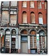 Silent City Store Fronts Acrylic Print