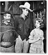 Silent Film: Cowboys Acrylic Print