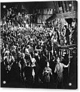 Silent Film Still: Crowds Acrylic Print