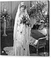 Silent Film: Wedding Acrylic Print