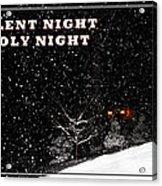 Silent Night Card Acrylic Print