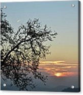 Silhouette At Sunset Acrylic Print