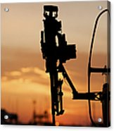 Silhouette Of A M240g Medium Machine Acrylic Print by Terry Moore