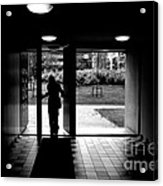 Silhouette Of A Man Acrylic Print