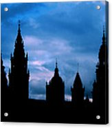 Silhouette Of Spanish Church Acrylic Print
