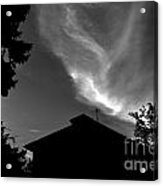 Silhouetted House And Clouds Acrylic Print