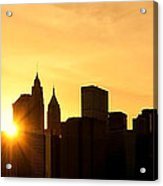 Silhouetted Manhattan  Acrylic Print