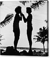 Silhouettes On The Shore Acrylic Print