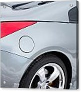 Silver 350z Nissan Acrylic Print
