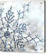 Silver Blue Snowflake  Acrylic Print