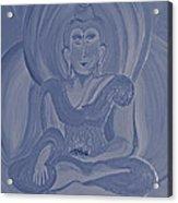 Silver Buddha Acrylic Print