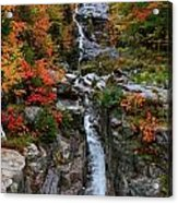 Silver Cascades Surrounded By Colors Acrylic Print