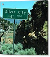 Silver City Nevada Acrylic Print