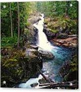 Silver Falls Full View  Acrylic Print