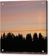 Silver Lake Sunset Acrylic Print