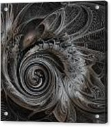 Silver Spiral Acrylic Print