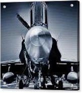 Silver Strikefighter Acrylic Print