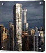 Silvery City Gloom Acrylic Print