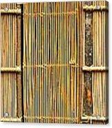 Simple Bamboo Door Acrylic Print