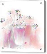Simple Spring Flowers Acrylic Print