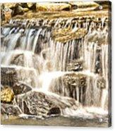 Simple Yet Powerful Waterfall Acrylic Print by Daphne Sampson