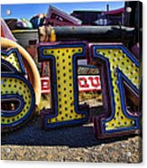 Sin Sign Acrylic Print by Garry Gay