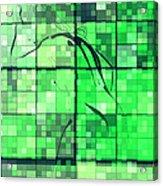 Sinful Geometric Green Acrylic Print