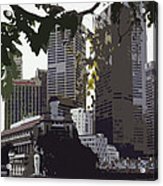 Singapore's Merlion Acrylic Print by Juergen Weiss