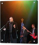 Singer Hasan Ammar In Bethlehem Acrylic Print