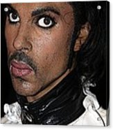 Singer Prince Cartoon Acrylic Print