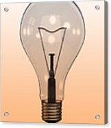 Single Light Bulb On Coloured Background Acrylic Print