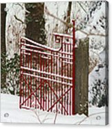 Single Red Gate Acrylic Print
