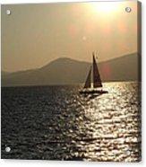 Single Sailboat Acrylic Print
