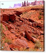 Sinkhole In Monument Valley Acrylic Print