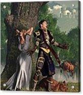 Sir Justinus The Singing Knight Acrylic Print