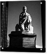 Sir Walter Scott Statue Inside The Monument On Princes Street Edinburgh Scotland Uk United Kingdom Acrylic Print