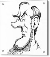 Sir William Hooker, Caricature Acrylic Print by Gary Brown