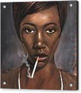 Sister With Cigarette Acrylic Print