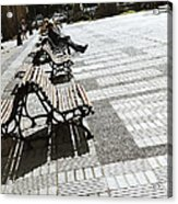 Sitting In The Park - Madrid Acrylic Print