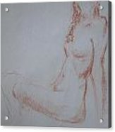 Sitting Woman 2 Acrylic Print