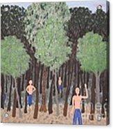 Six Little Cherokee Acrylic Print