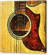 Six-string Acoustic Viii Acrylic Print