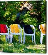 Six Summer Chairs Acrylic Print