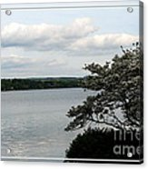 Skaneateles Lake In Ny Finger Lakes Water Color Effect Acrylic Print