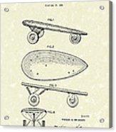 Skateboard Coaster Car 1948 Patent Art  Acrylic Print