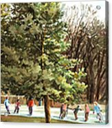 Skaters Acrylic Print by Peter Sit