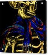 Skeleton Fashion Victim Acrylic Print