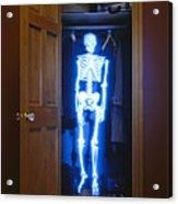 Skeleton In The Closet Acrylic Print by Tony Cordoza