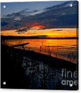 Skeloton Lake Sunset Hdr Acrylic Print